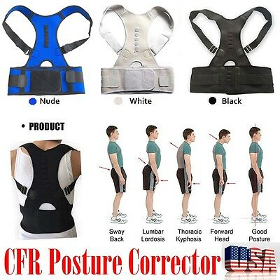 ... Hot Magnetic Posture Back Shoulder Corrector Support Brace Belt Therapy Adjust 4