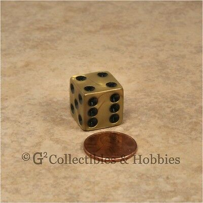 New 6 Olympic Gold Black D6 Dice Set D/&D RPG Game Die 16mm 5//8 inch