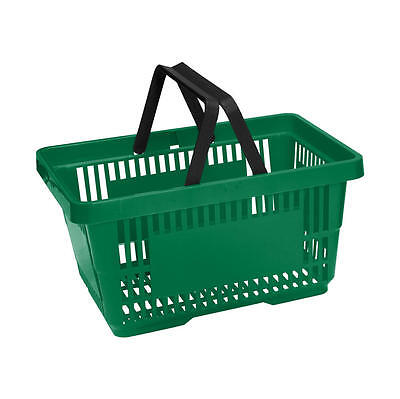 Plastic Shopping Basket 6 Colours 1, 2, 5 & 10 Pack - 20 Litre Plastic Baskets 5
