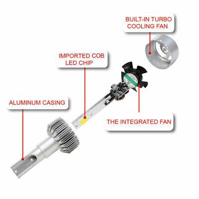 9005 LED Headlight Kit 9145 100W 20000LM High Low Beam Bulb 6000K White 9145 HB3 2