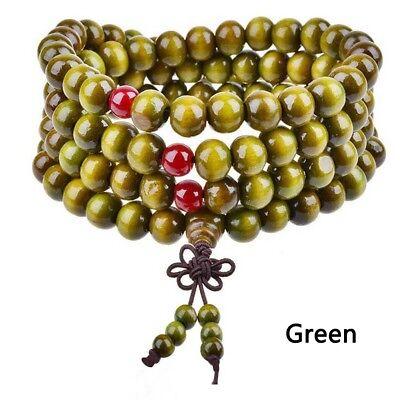 1PC Sandalwood Buddhist Meditation 8mm*108 Prayer Bead Mala Bracelet Necklace 7