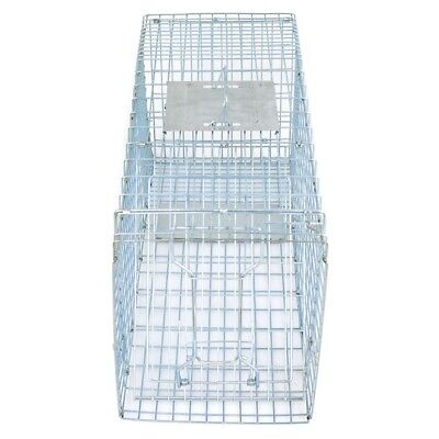 32'' Humane Live Animal Trap 1 Door Rodent Cage for Rabbits Cat Raccoon Squirrel 9