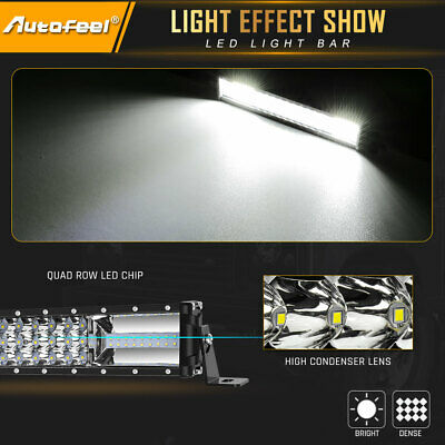 22Inch Tri-Rows 90PCS LED Light Bar Spot Flood Combo Work Driving Offroad Truck 9