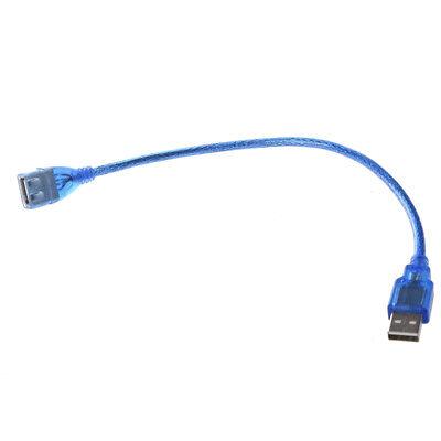 ACTECOM® Cable Alargador Extension USB 2.0 Tipo A Hembra a Macho AF-AM 25cm Azul 3