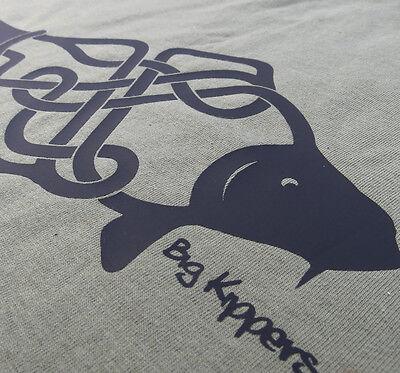 ORIGINAL Cotton Carp Fishing T-Shirt /'Celtic Carp/' Tee by Big KippersFREE p/&p