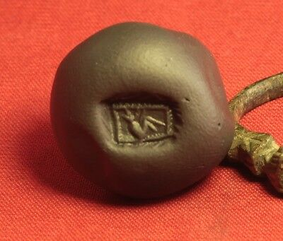 Fine Medieval Rooster Seal Ring. 14. Century, Finger Ring 2