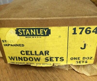 NOS Stanley No 1764 Cellar Window Sets--Made in the USA--Black finish--steel