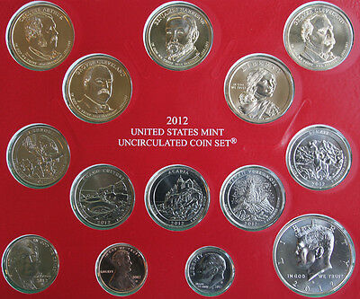 2012 ANNUAL US Mint Uncirculated Coin Set 28 P and D Minted Coins with COA 5