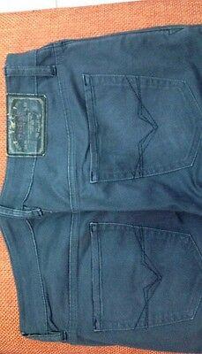 Pantaloni Jeans Guess Ragazzo 5 Tasche Taglia 44 Grigio Scuro Cotone Vita 86 6