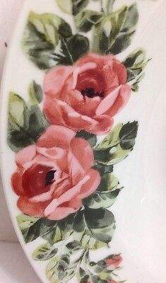 "Gibson Housewares Pink Roses Rimmed Soup / Cereal Bowl 8"" Set of 4 2"