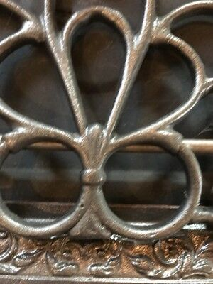 """Br 34 Antique Cast-Iron Floor To Wall Mount Heating Great 10 X 12"""" 5"""