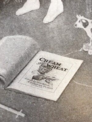 1907 Henry Hutt Cream of Wheat Ad Mother Child Toys Dog Black Cat