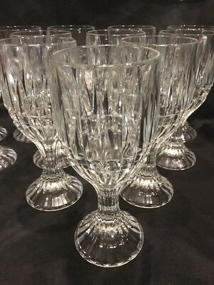 Crystal Wine Water Goblets Trevi Pattern Home Essentials Beautiful (12) 4