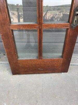 AN 471 antique Oak entrance door French style 32 x 83