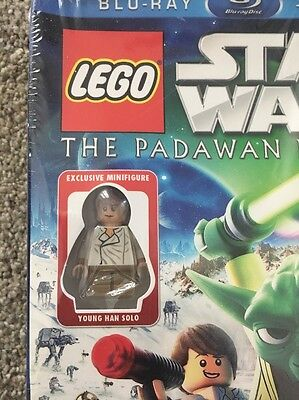 New LEGO Star Wars Movie The Padawan Menace Bluray+DVD Young Han Solo MiniFigure 3