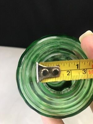 Lamp Stem Cut to Clear Part Oil Electric Bohemian Green 7