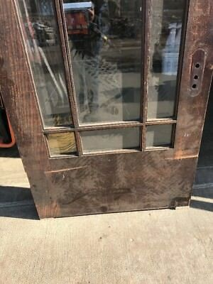Sg 458 Antique Beveled Glass Prairie Style Entrance Door 35 5/ 8 X 83