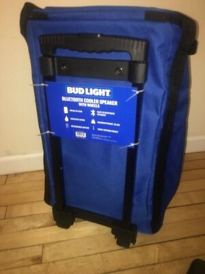 BUD LIGHT BLUETOOTH Cooler Speaker W/ Wheels Summer 2018 Dilly Dilly  Anheuser