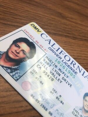 Back to the Future - Fake Drivers License Prop Marty McFly Novelty HIGH QUALITY 4