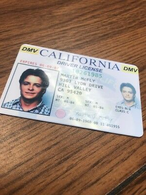 Back to the Future - Fake Drivers License Prop Marty McFly Novelty HIGH QUALITY 2