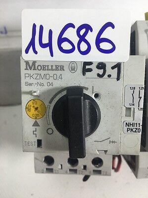 2 X Stücke Moeller PKZM0-0,4; Motorschutzschalter 3-polig