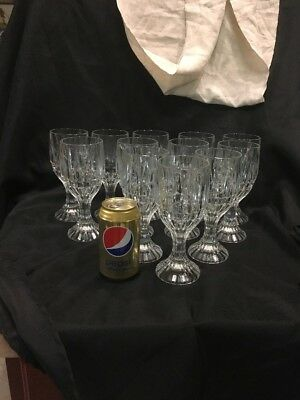 Crystal Wine Water Goblets Trevi Pattern Home Essentials Beautiful (12) 12
