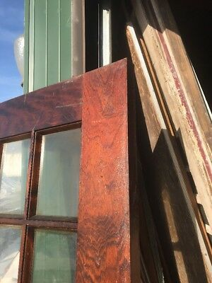 An 446 Antique Flat Glass French Door 35 15/16 X80
