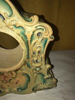 Vintage Porcelain Floral Mantle Clock Shell 4