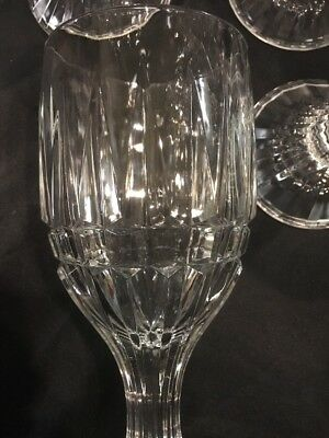 Crystal Wine Water Goblets Trevi Pattern Home Essentials Beautiful (12) 7