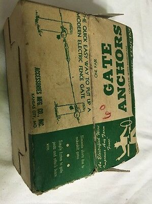 Vintage Porcelain Farm Electric Fence Gate Anchors Lot Of 3 USA Made Chicago NOS 7