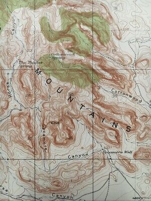 Topographic Map Of Mountains.Usgs Topographic Map 1918 Dog Mountains Quadrangle New Mexico