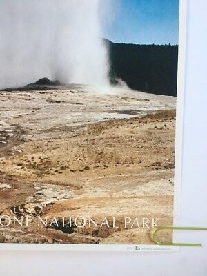TR36 Vintage 1930/'s Yellowstone park Old Faithful America Travel Poster A4