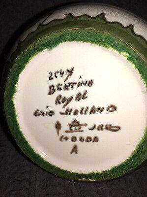 JAH Gouda pitcher hand painted BERTINO floral decor 2547 Zuid Holland 1950s