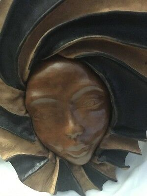 Modern Italy Decoration Leather Woman's Face 12