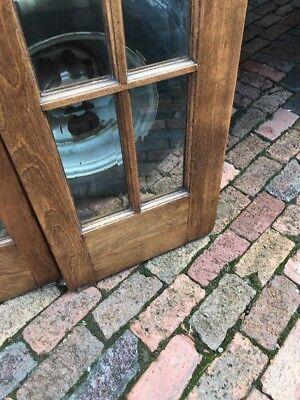 AN469 6 foot beveled glass bifold door unit antique