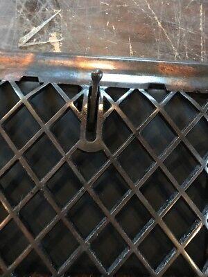 P 12 antique crosshatch floor to wall mount heating grate 10.75 x 11 5/8 3