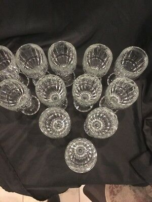 Crystal Wine Water Goblets Trevi Pattern Home Essentials Beautiful (12) 2