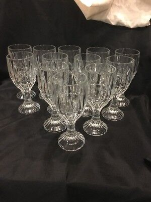 Crystal Wine Water Goblets Trevi Pattern Home Essentials Beautiful (12) 11