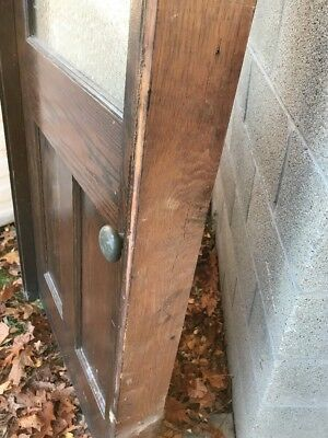 HO antique oak entrance door with jam 37.75 x 84.25