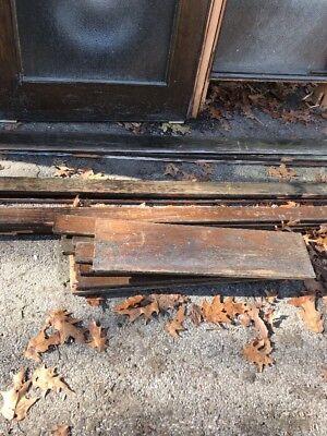 HO Antique Oak Entrance Door With Sidelight 89.75 Hi 5106 Wide