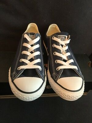 Boys/Girls Designer Converse All Star Blue Low Top Trainer UK Kids 2 BNIB 3
