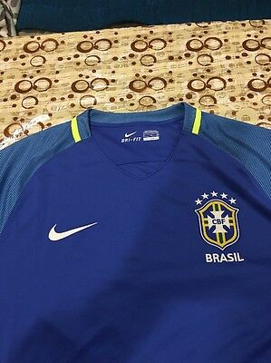 7c4640d180 1 of 12Only 1 available Official Nike Brazil CBF S S Away Stadium Jersey  724593-493 Men s Size (
