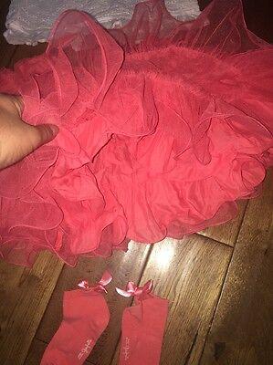 Girls Lili Gaufrette Skirt Top & Matching Socks Age 8 4