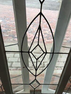 Sg 1974 Av Price Each Beveled Leaded Glass Window 18 X 47.25