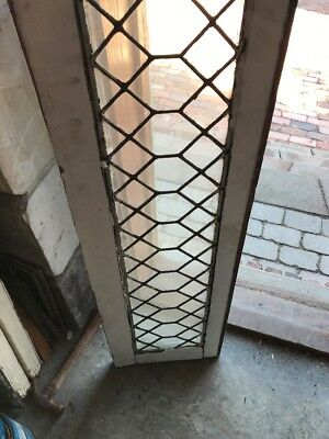 Sg 1782 Antique Leaded Glass Transom Window 13 1/4 X 81 1/2