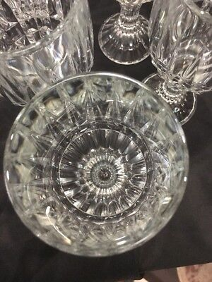 Crystal Wine Water Goblets Trevi Pattern Home Essentials Beautiful (12) 8