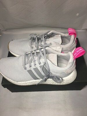 best service 6941c ea140 ADIDAS NMD R2 Shoes ‑ Women's ‑ Grey / Grey / Pink ‑ Size: 10