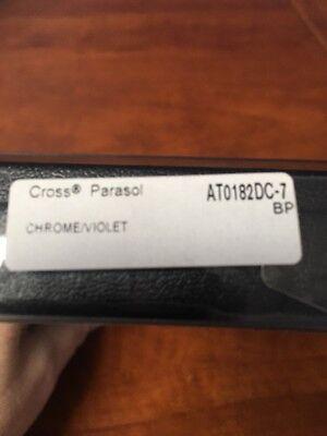 Cross Parasol Chrome/Violet Twist Ball Point Pen 8