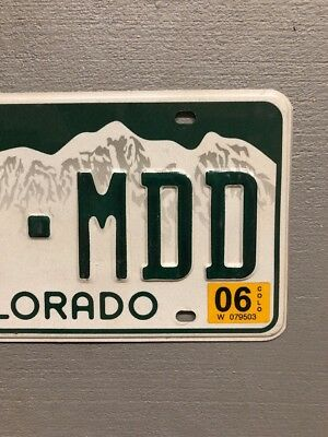 Colorado Rocky Mountains White License Plate Random Letters/Numbers 3