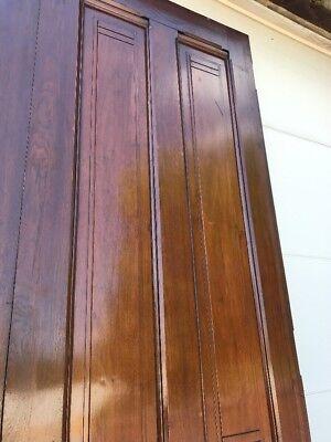 MAR247 match Pair antique all walnut Double Doors 6' x 112.75 x 2.25 Thick